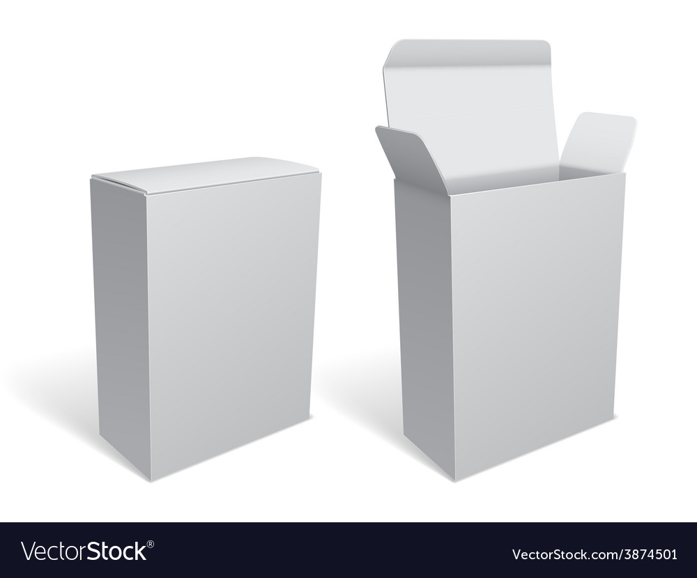 Blank White Package Box vector image