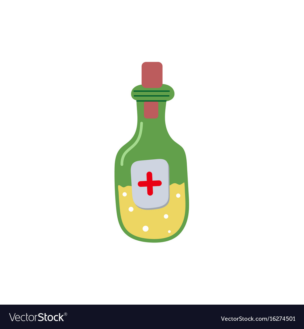 Medicine bottle flat isolated vector image