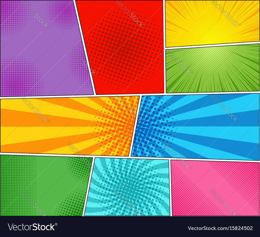 Comic book backgrounds set vector image
