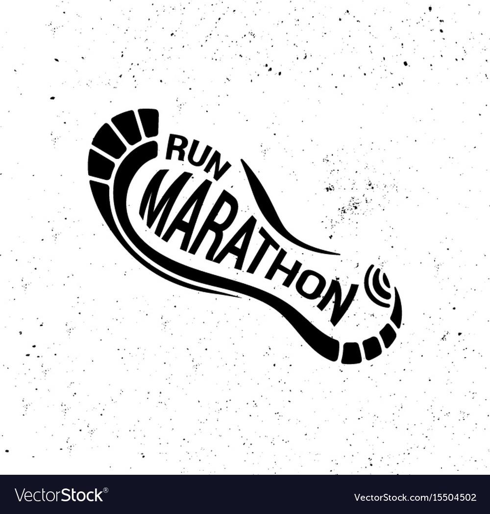 Run icon running symbol marathon poster and logo vector image