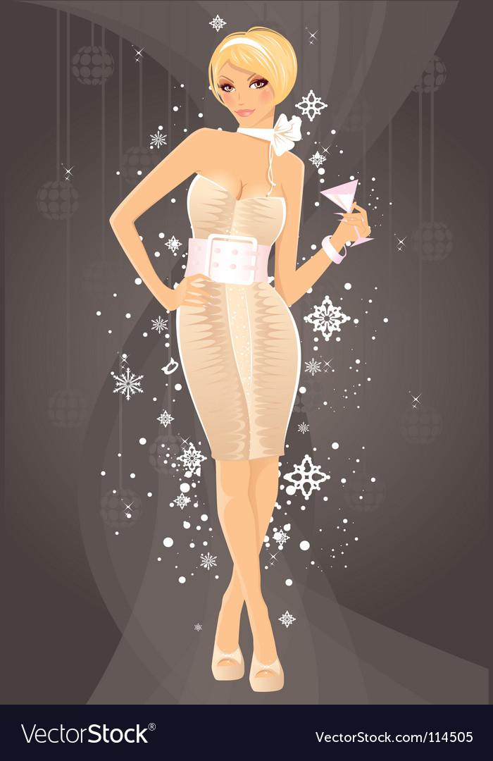 Christmas women vector image