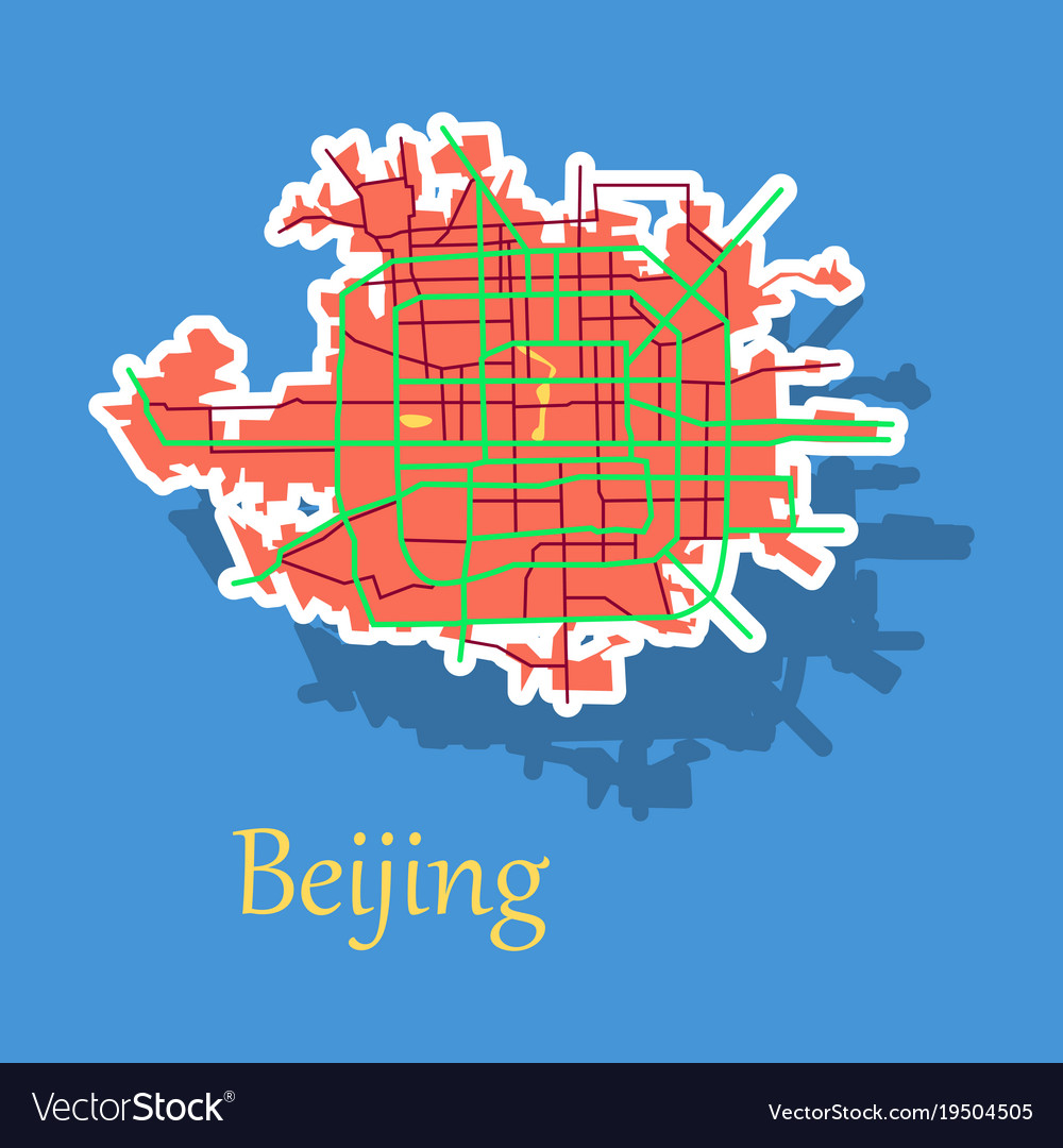 Beijing city map sticker royalty free vector image beijing city map sticker vector image gumiabroncs Choice Image