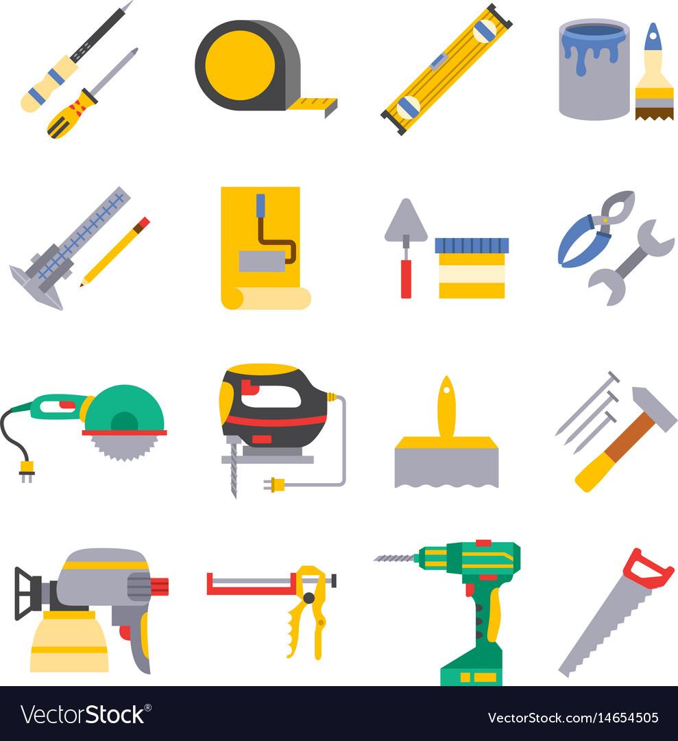 Various color flat design house repair vector image