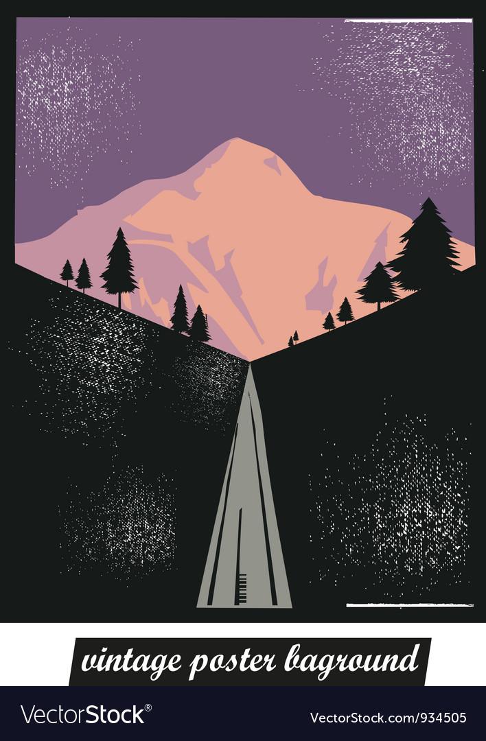 Vintage poster background vector image