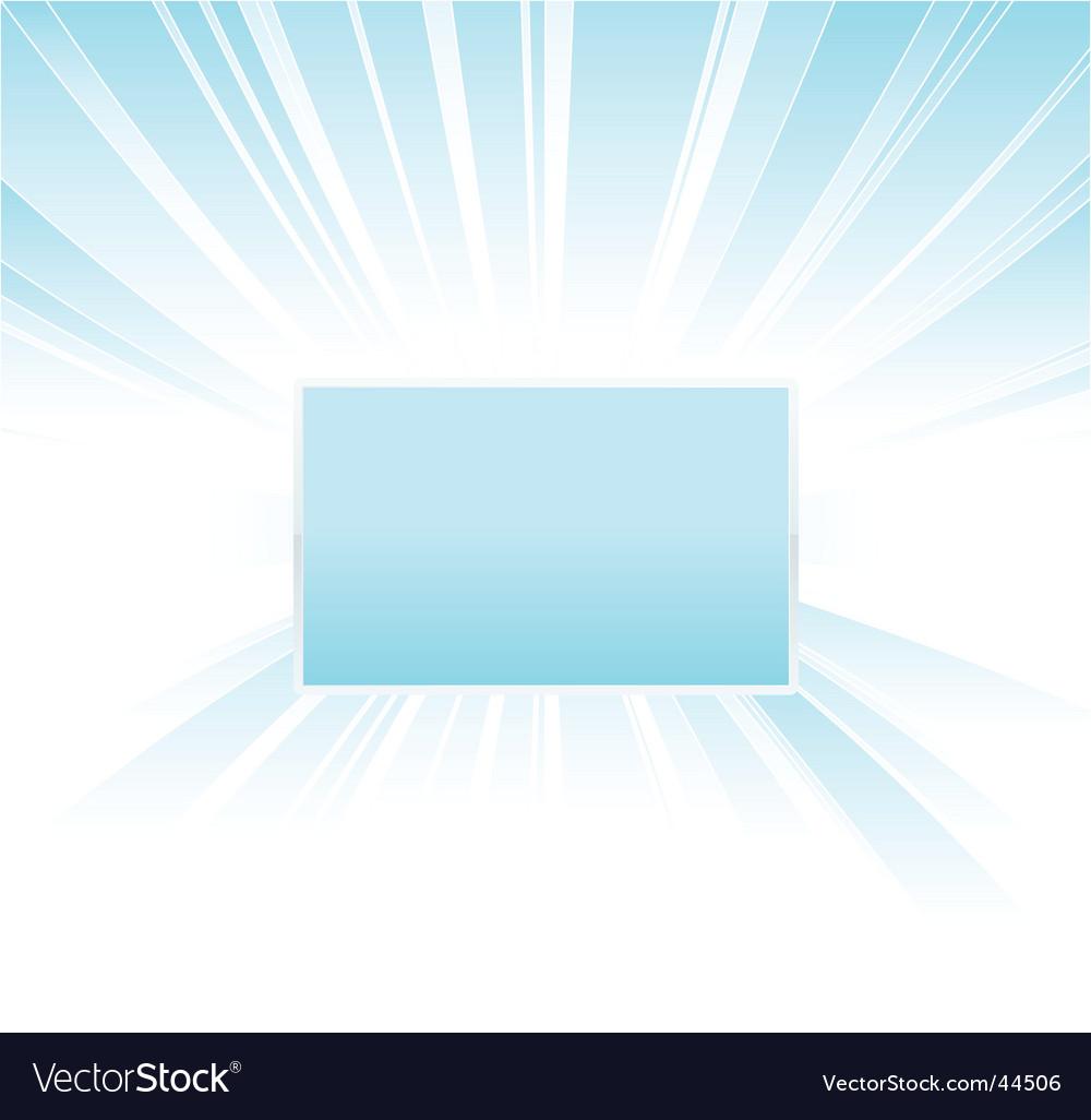 Shiny glowing board design vector image