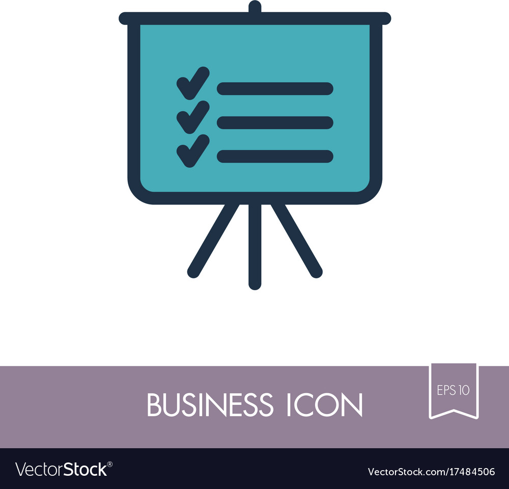 Statistics in training board icon planning sign vector image