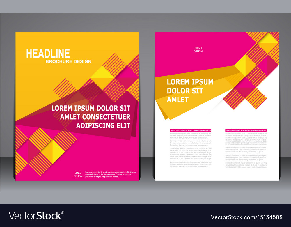 Abstract Modern Geometric Flyer Brochure Template Vector Image