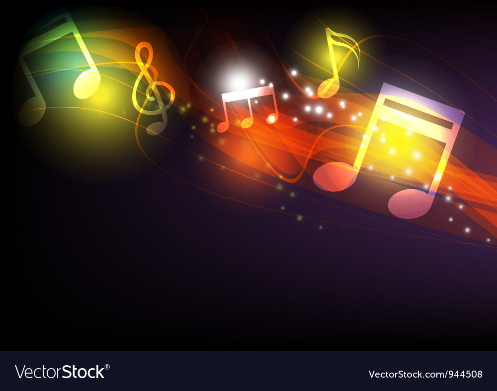 Music concept background vector image