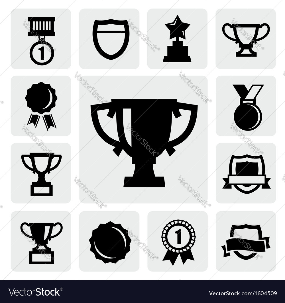 Trophy and awards vector image