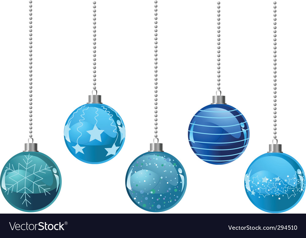 Christmas color balls vector image