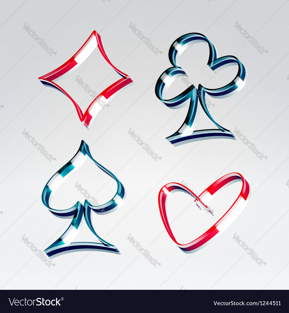 Playing gambling cards symbols vector image
