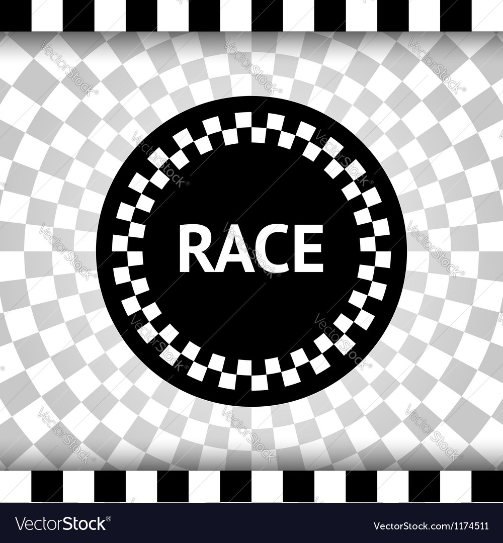 Race square background vector image