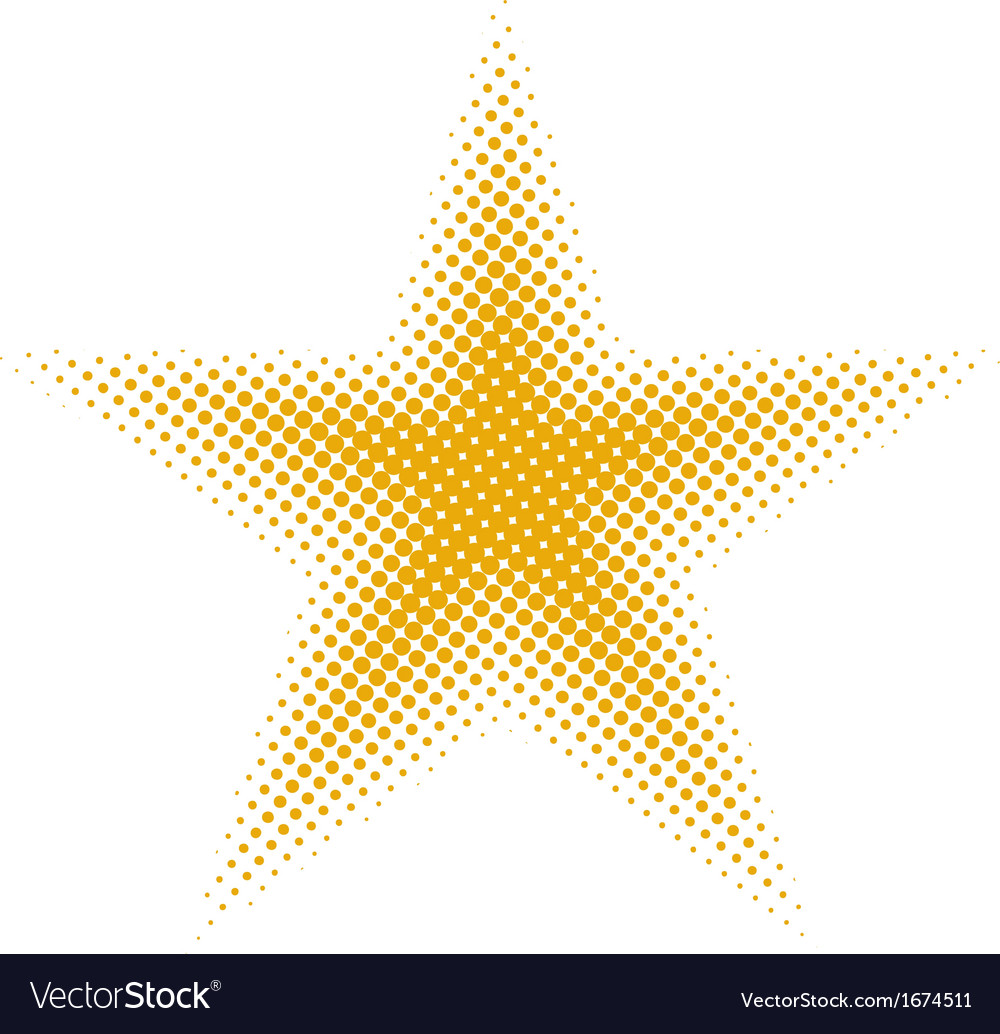 Star halftone vector image