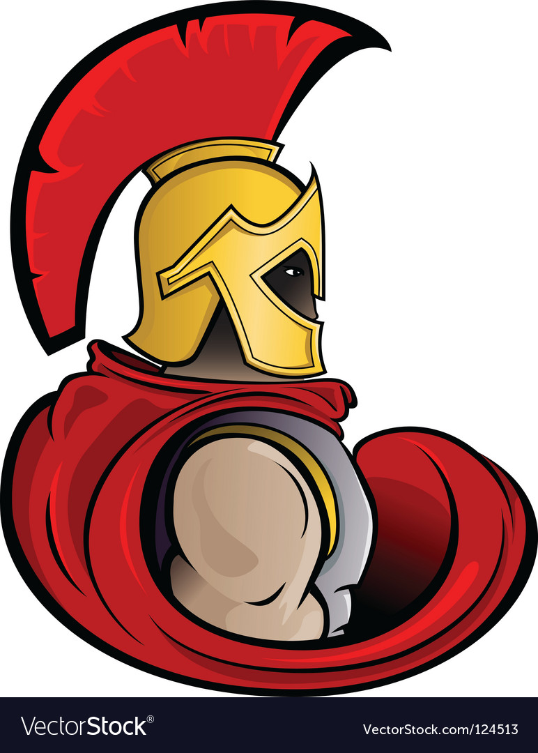 Trojan warrior vector image