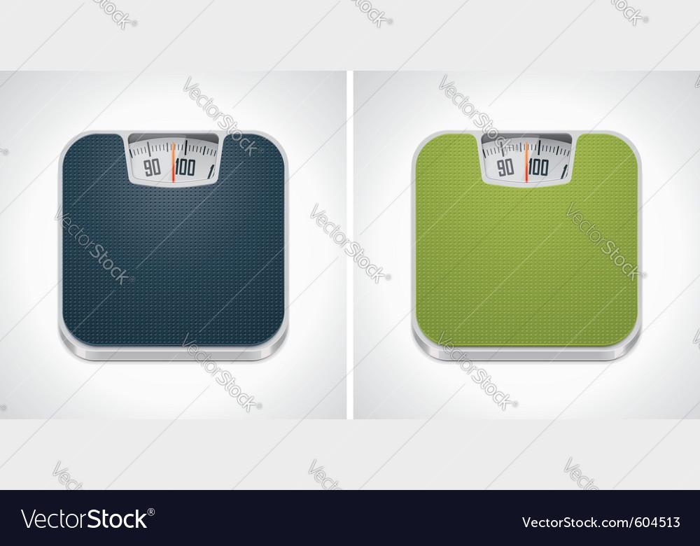 Bathroom weight scale vector image