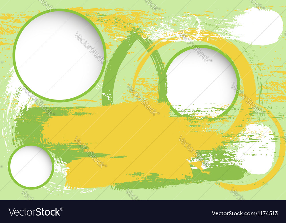 Grunge background with blank circles vector image