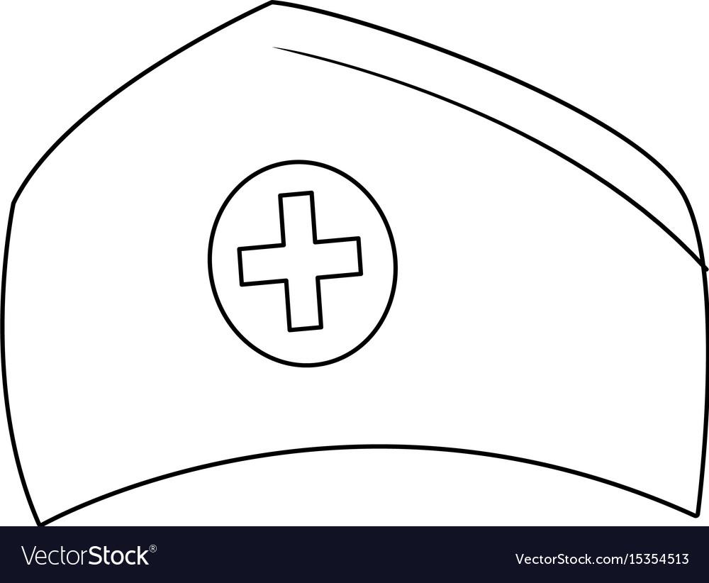 Nurse cap medical ha vector image