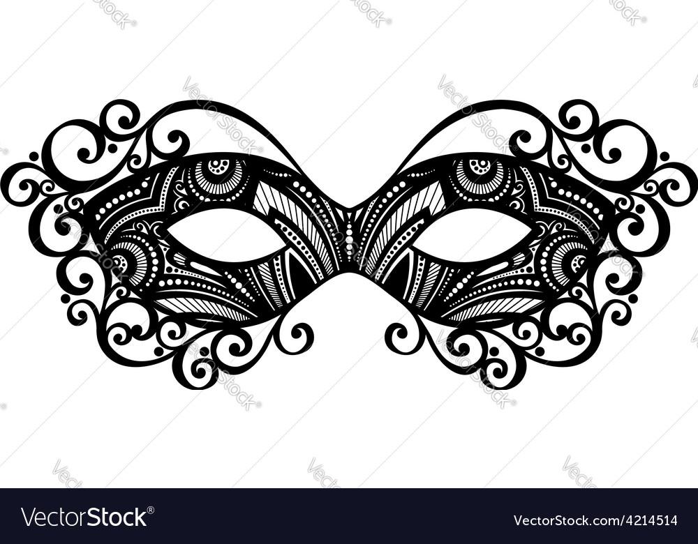 masquerade mask design vector image
