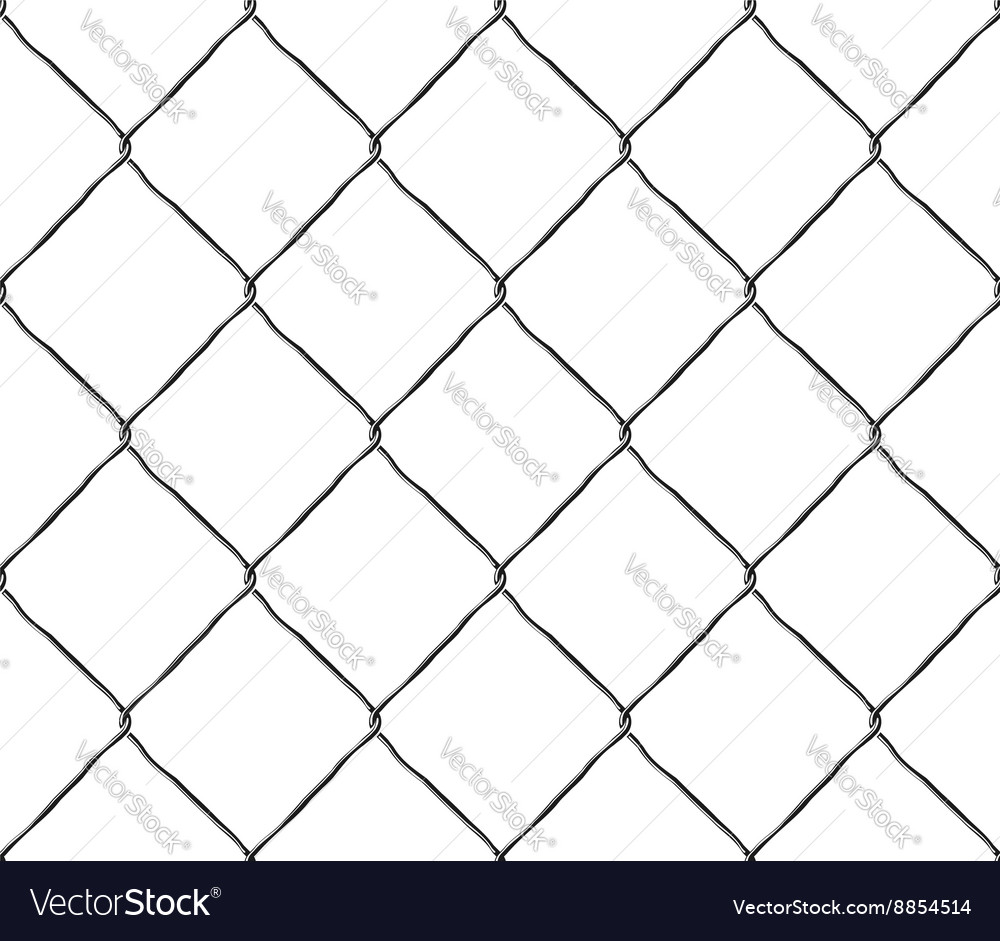 Seamless texture metal mesh steel fence vector image