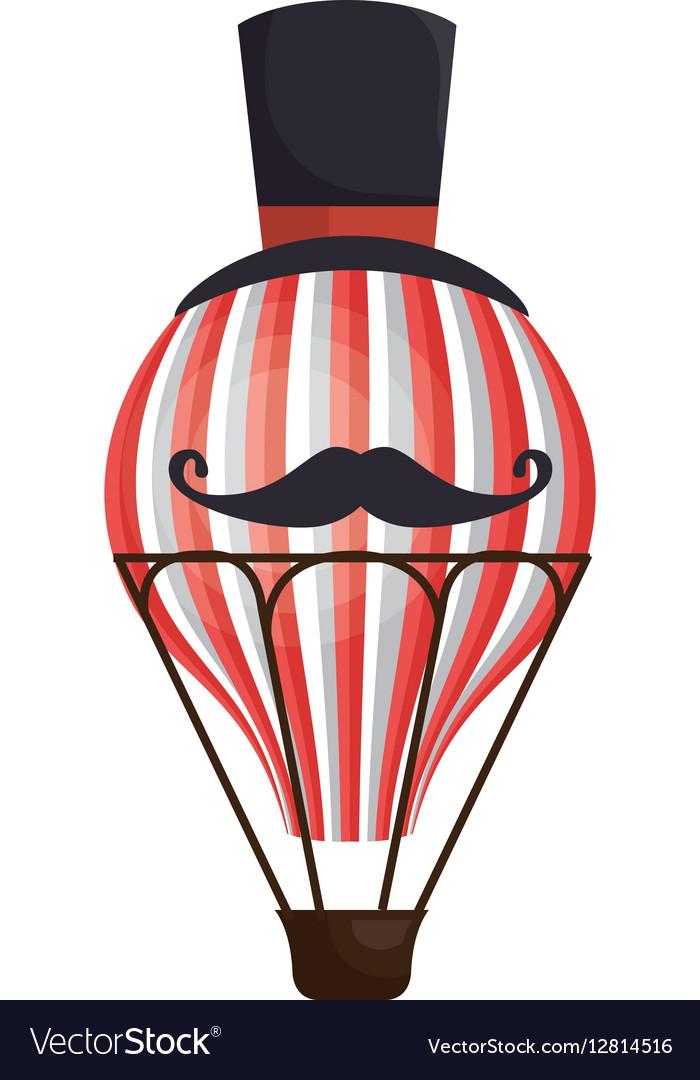 Circus balloon air hot icon vector image