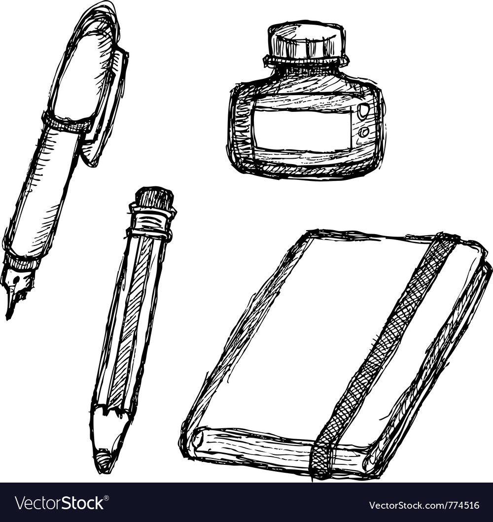 Scribble series - stationery vector image
