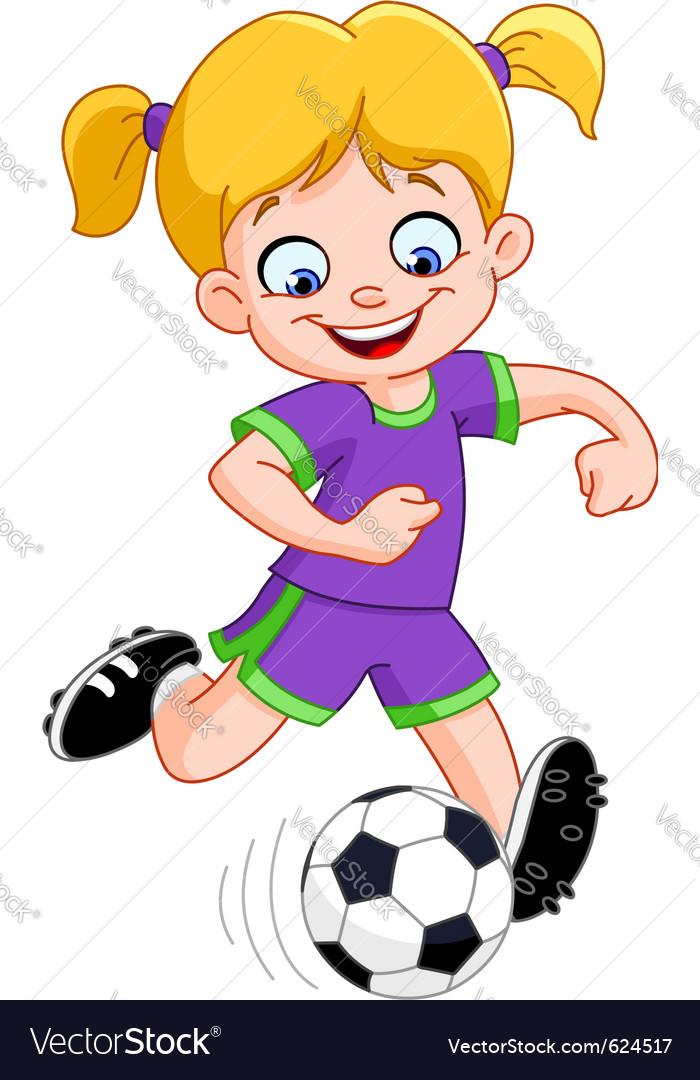 Soccer girl vector image