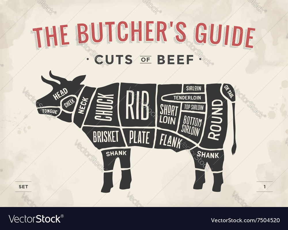 Cut of beef set poster butcher diagram and scheme vector image cut of beef set poster butcher diagram and scheme vector image pooptronica