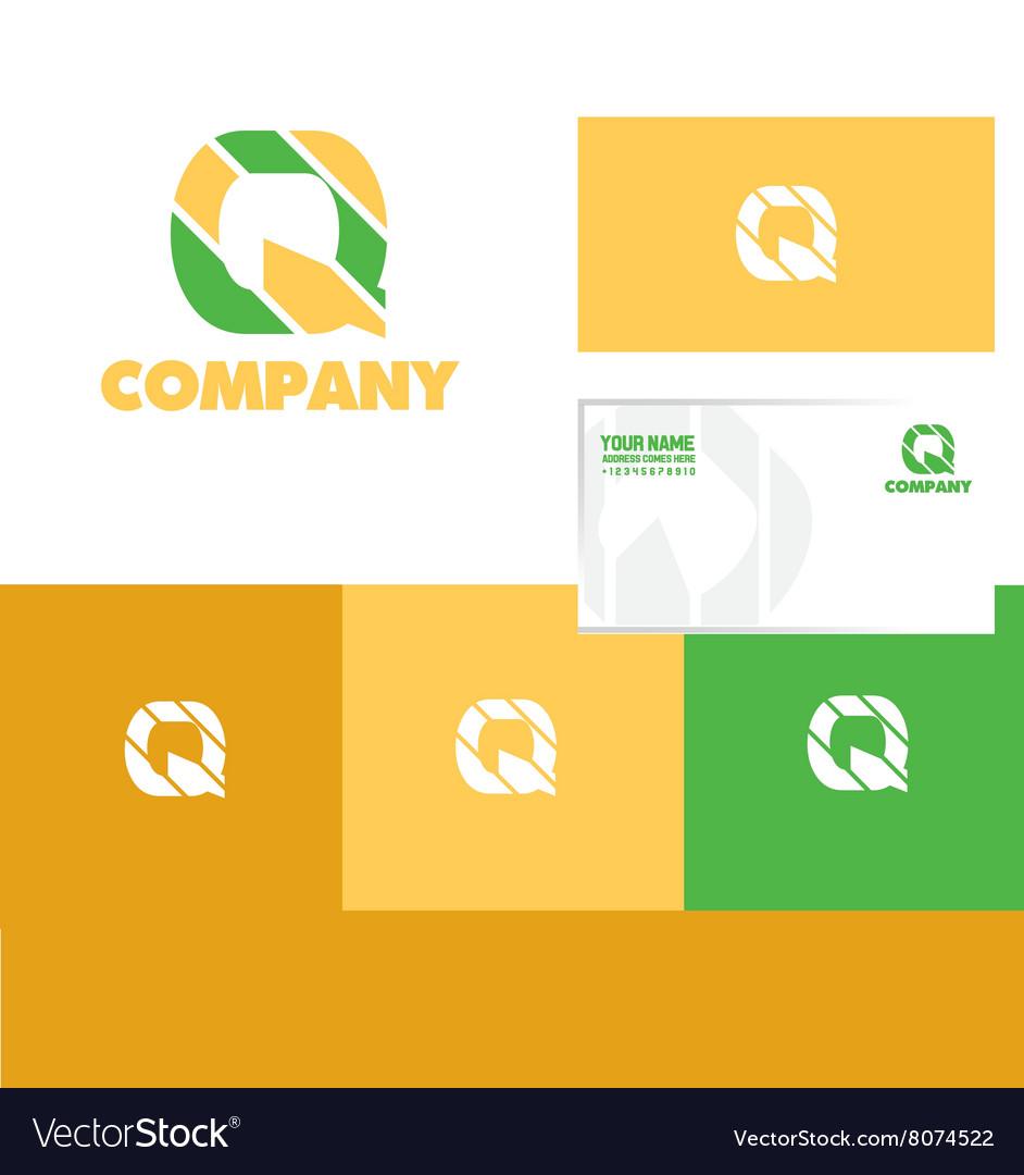 Alphabet letter q logo icon set vector image