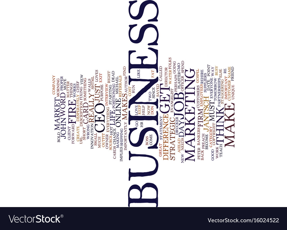 Fire the ceo text background word cloud concept vector image