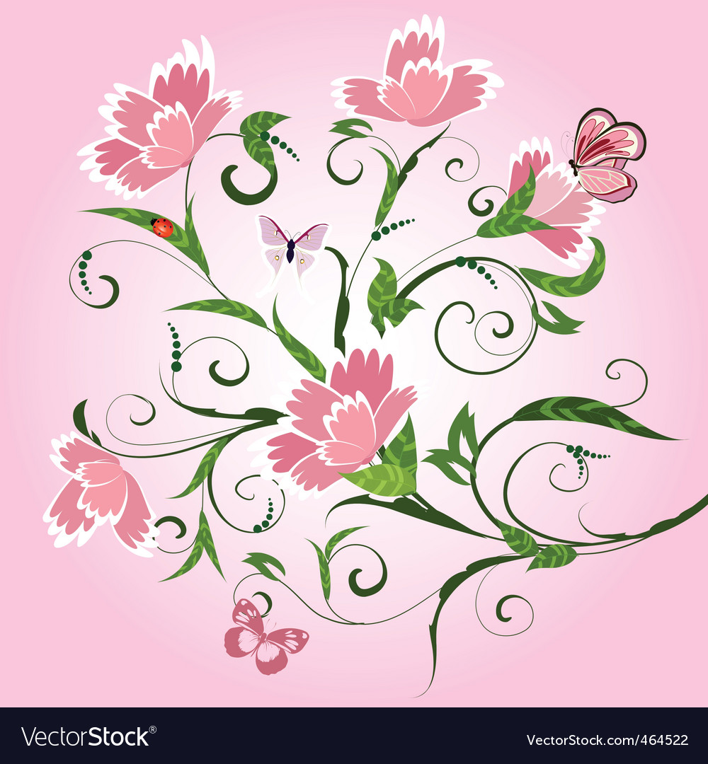 Floral pattern with cloves vector image