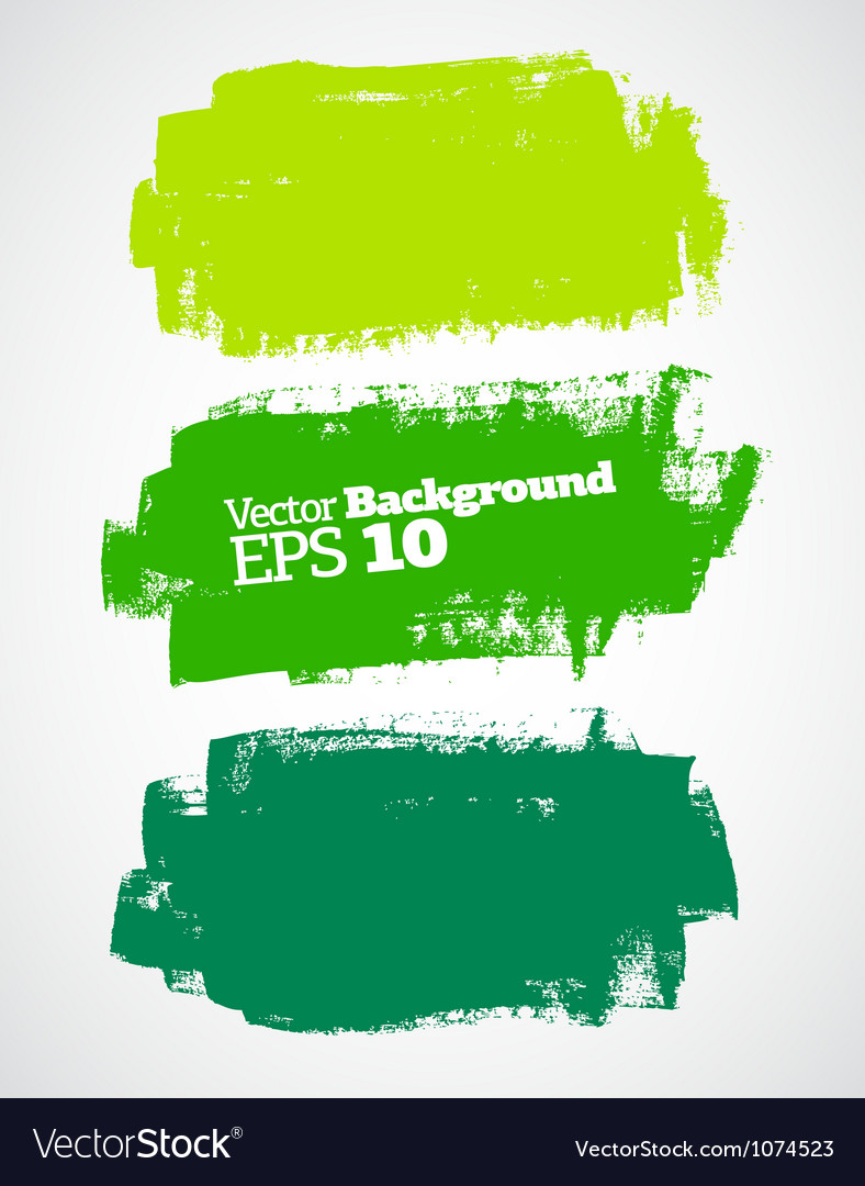 Green brush strokes vector image