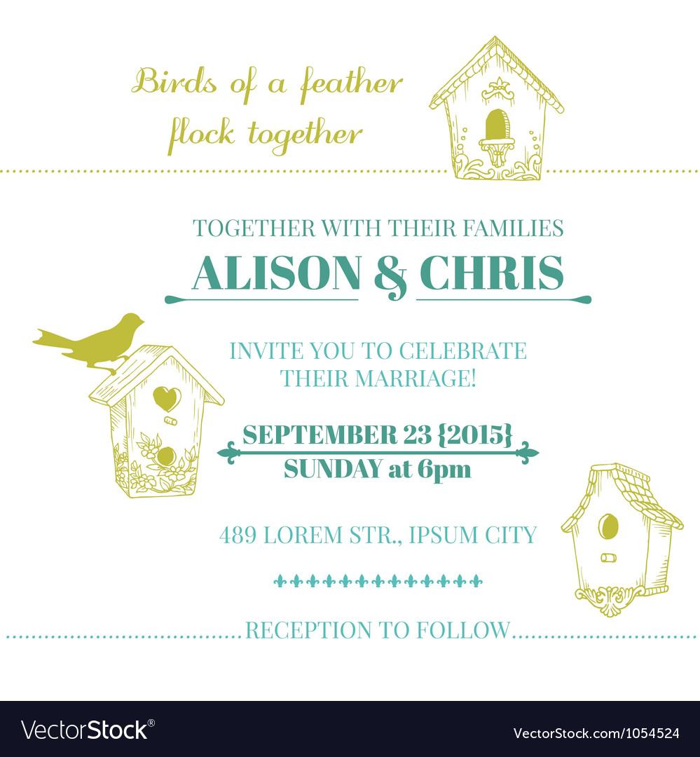Wedding Vintage Invitation Card vector image