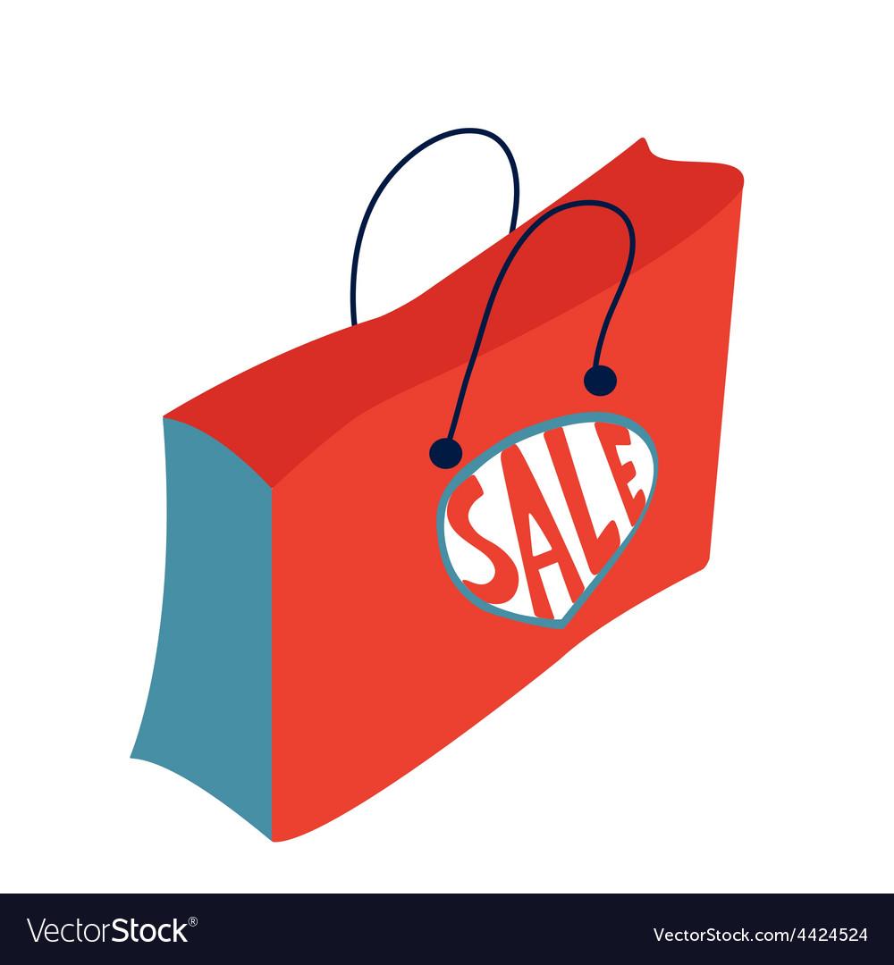 concept card for sales shopping bag with sale vector image rh vectorstock com sale victoria's secret sale victoria mn