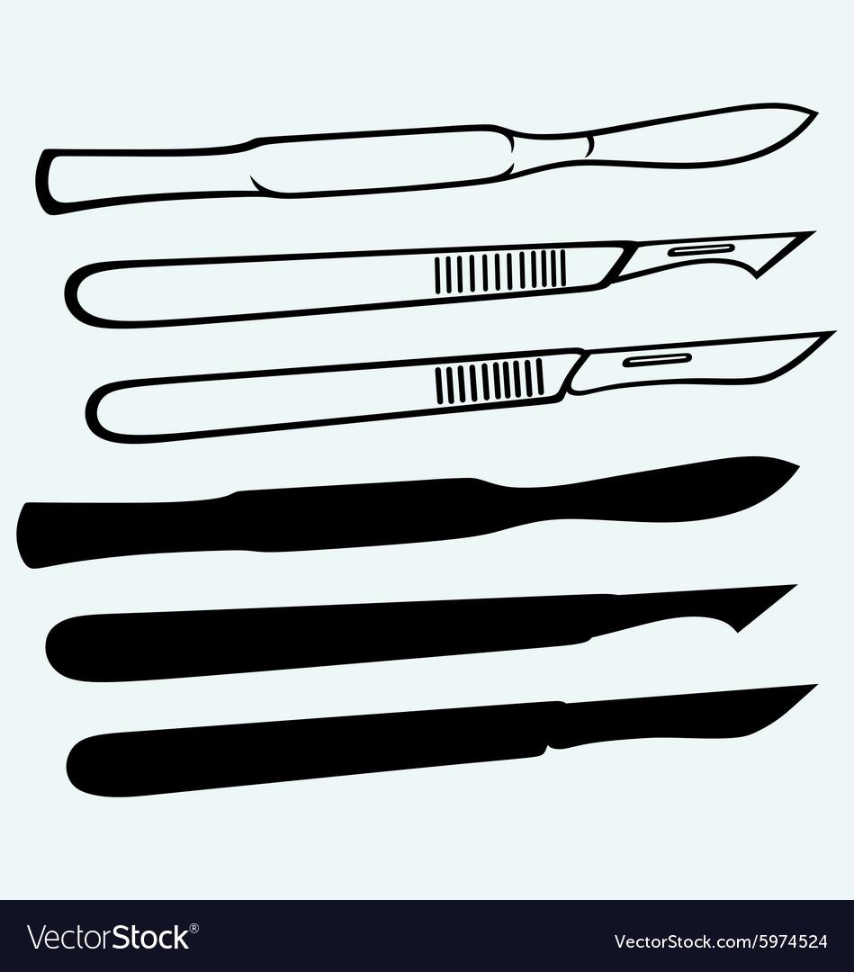 Medical scalpels vector image