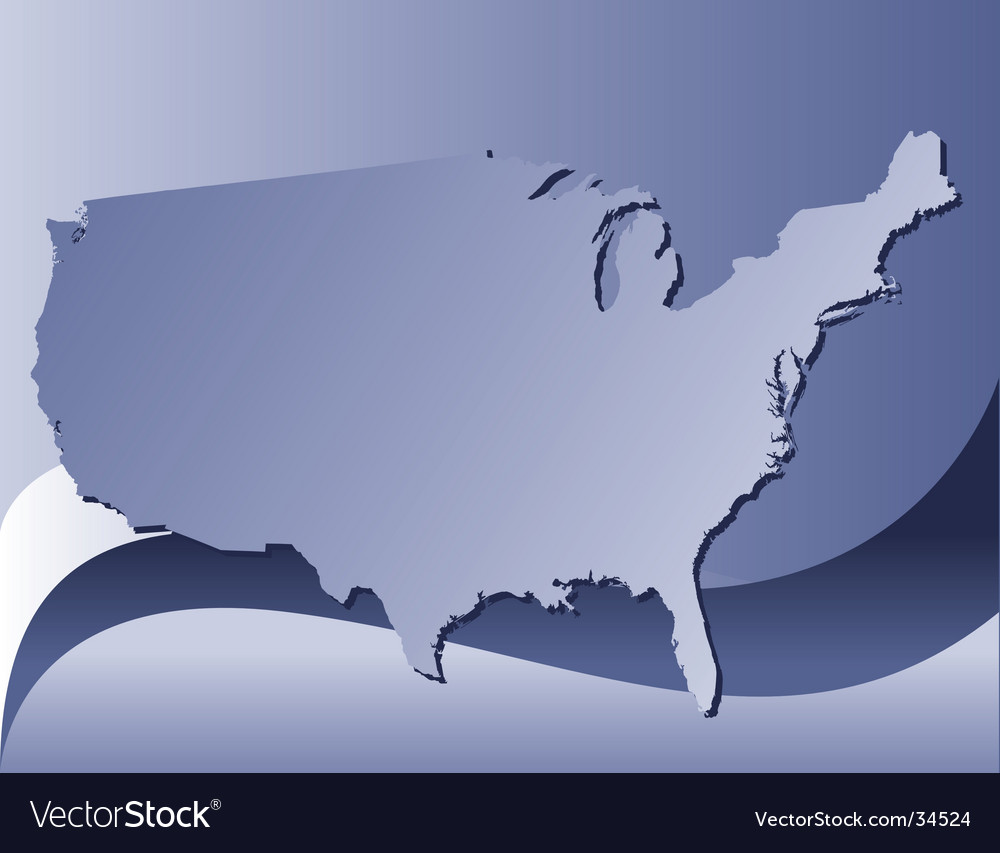 Usa blue bg vector image