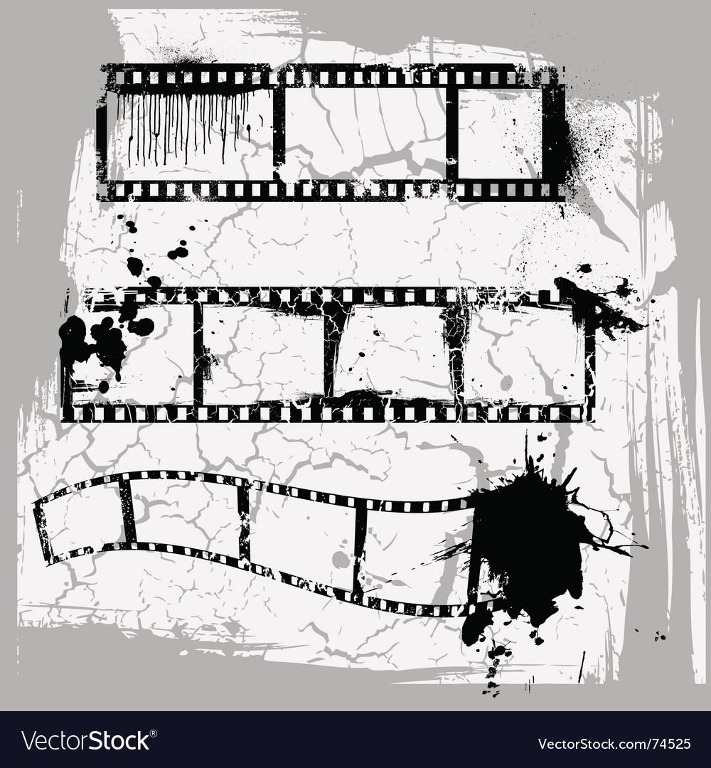 Film strips vector image