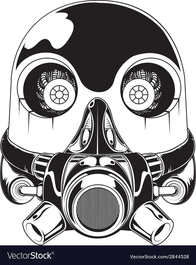 Robot Mask Royalty Free Vector Image - VectorStock