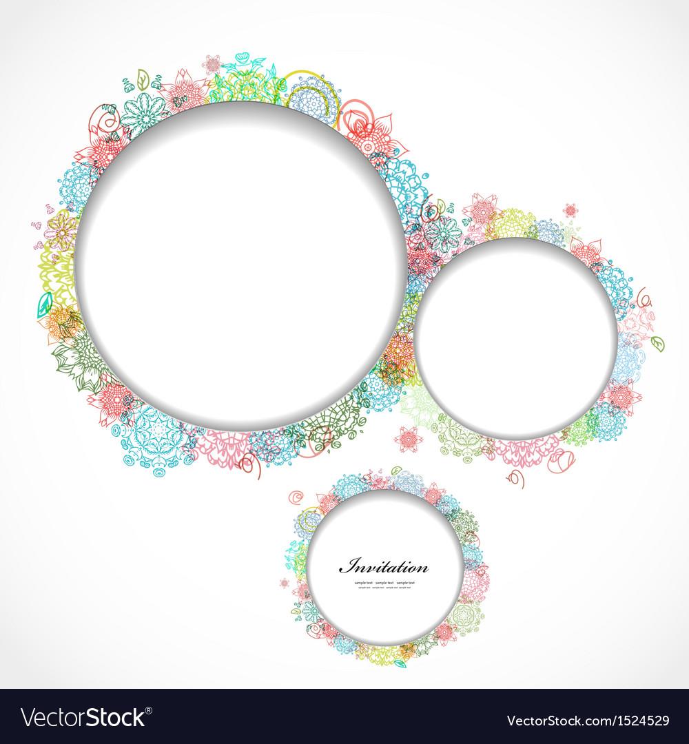 Card flower7 vector image