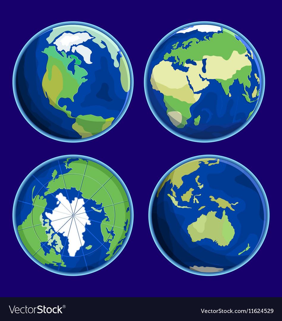 Earth Flat Icon vector image
