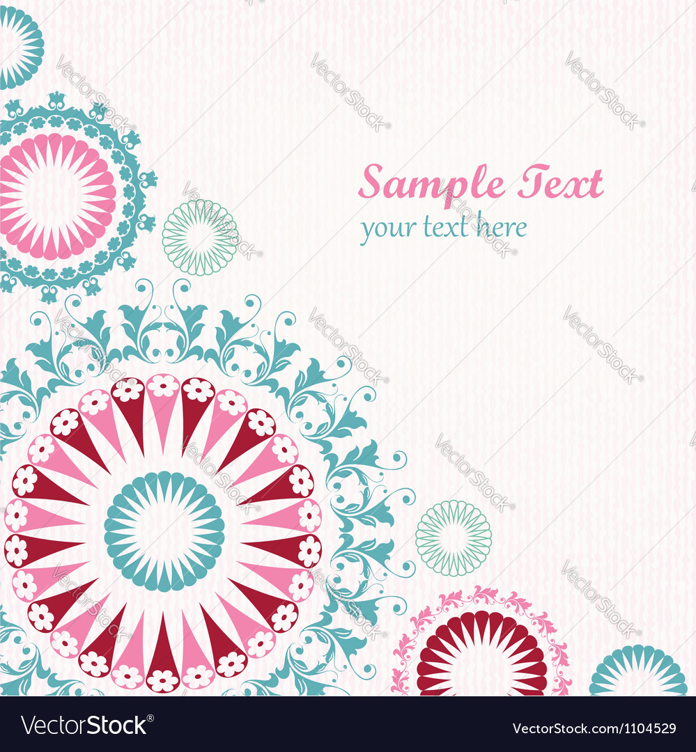 Floral decorative graphic background vector image