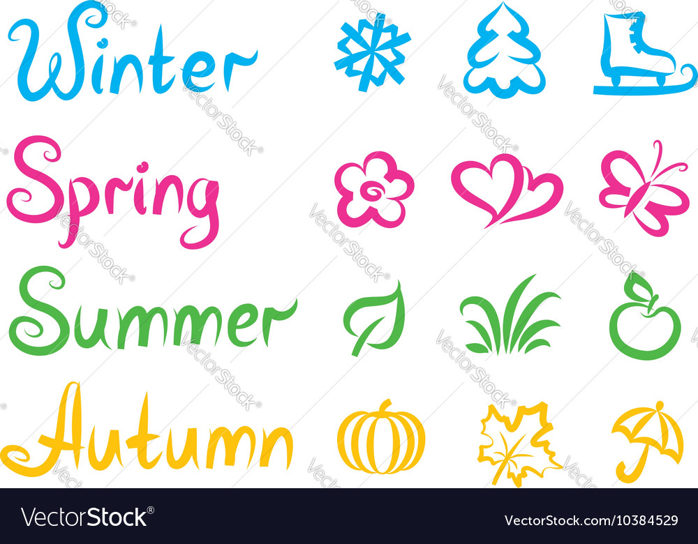 List Of Synonyms And Antonyms Of The Word Names All Four Seasons