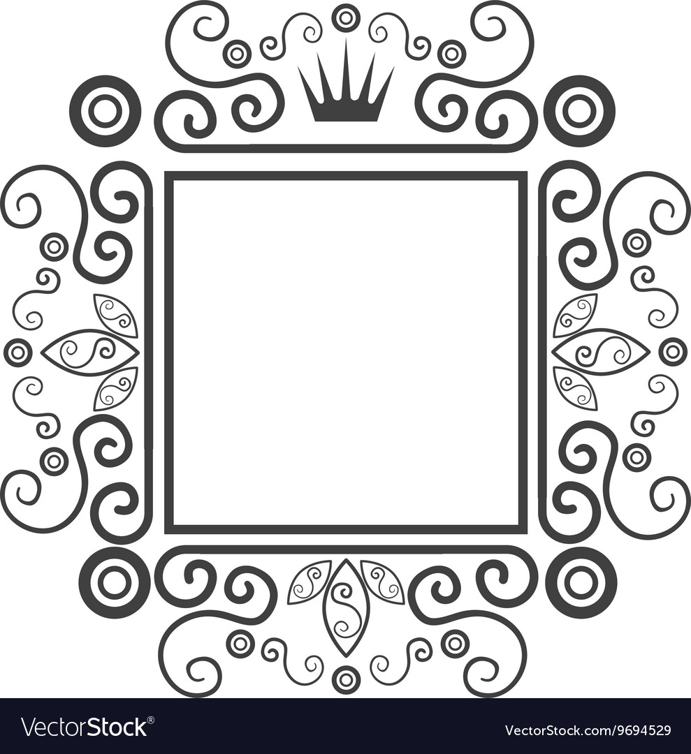 Victorian ornament graphic design vector image