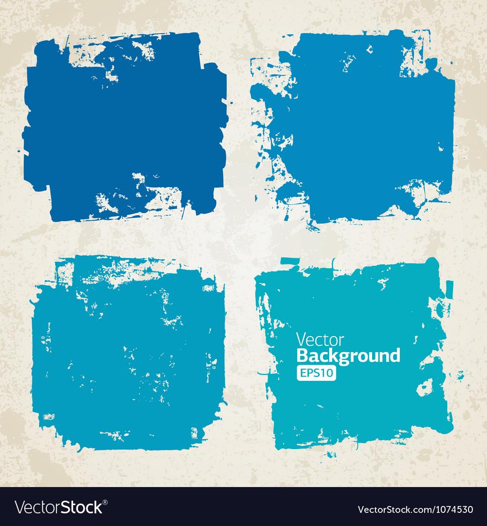 Set of grunge colorful brush backgrounds vector image