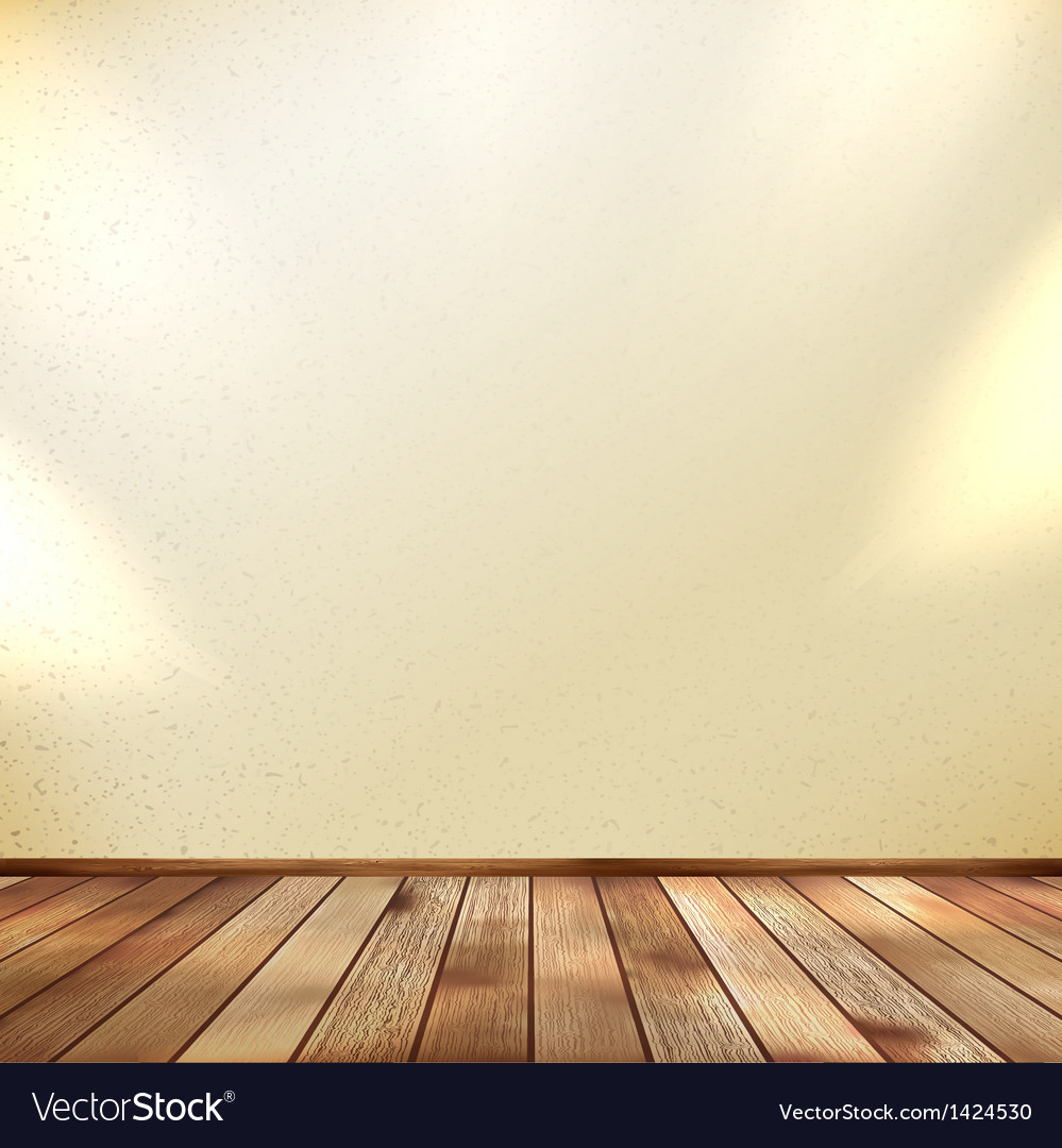 Light wooden interior EPS 10 vector image
