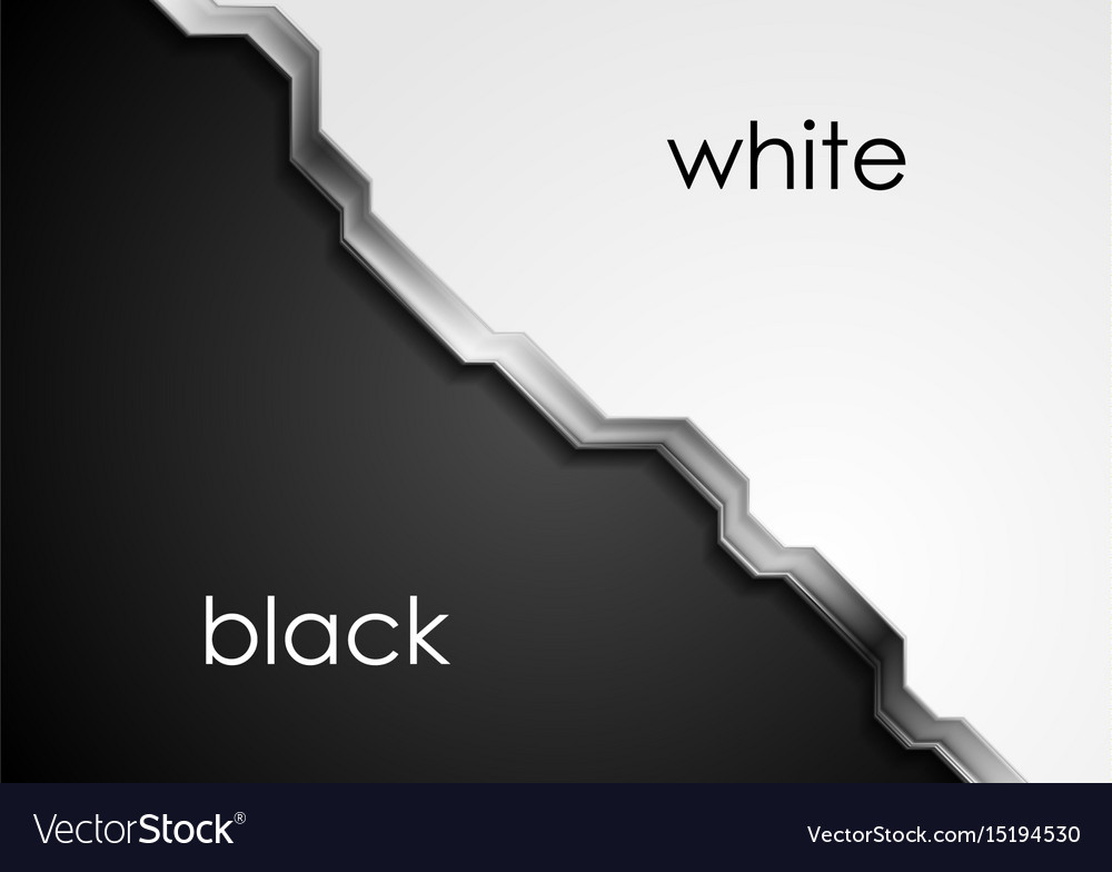 Black and white abstract background with metallic vector image