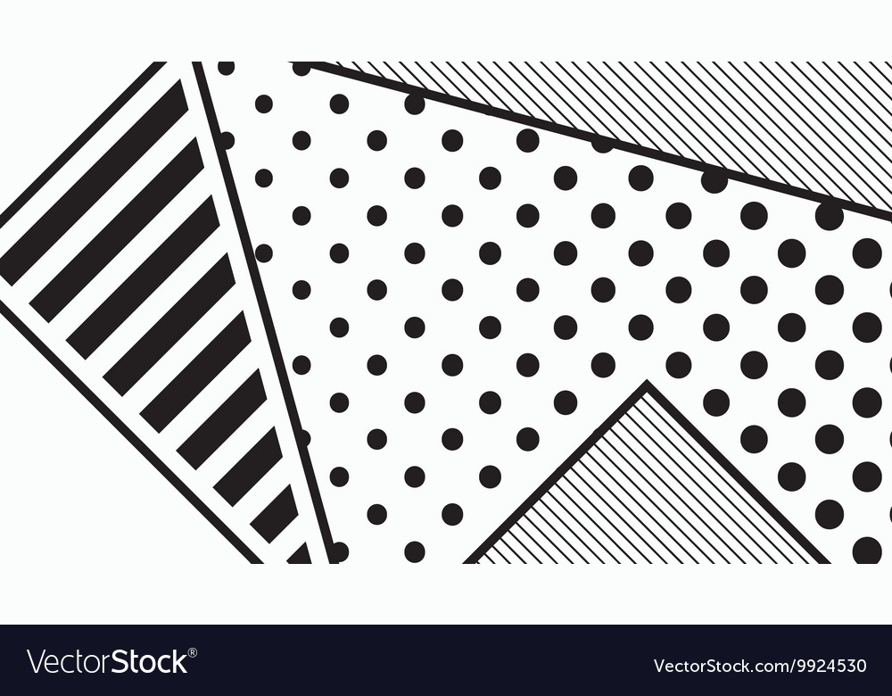 Black and white pop art geometric pattern vector image