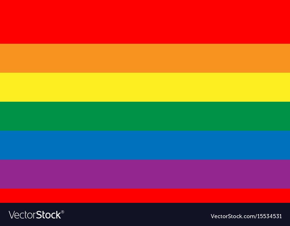 Lesbian gay bisexual and transgender flag vector image