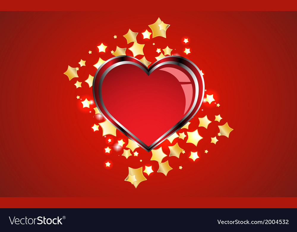 Creative red heart background vector image