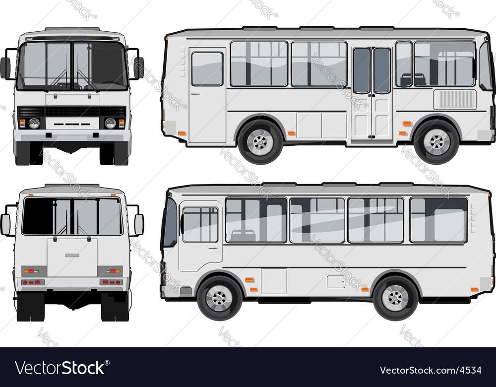 Urban suburban passenger mini-bus vector image