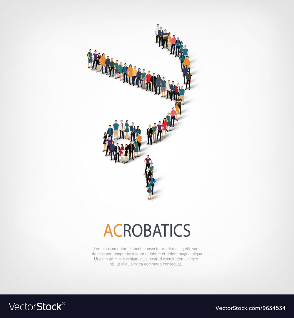 People sports acrobatics vector image